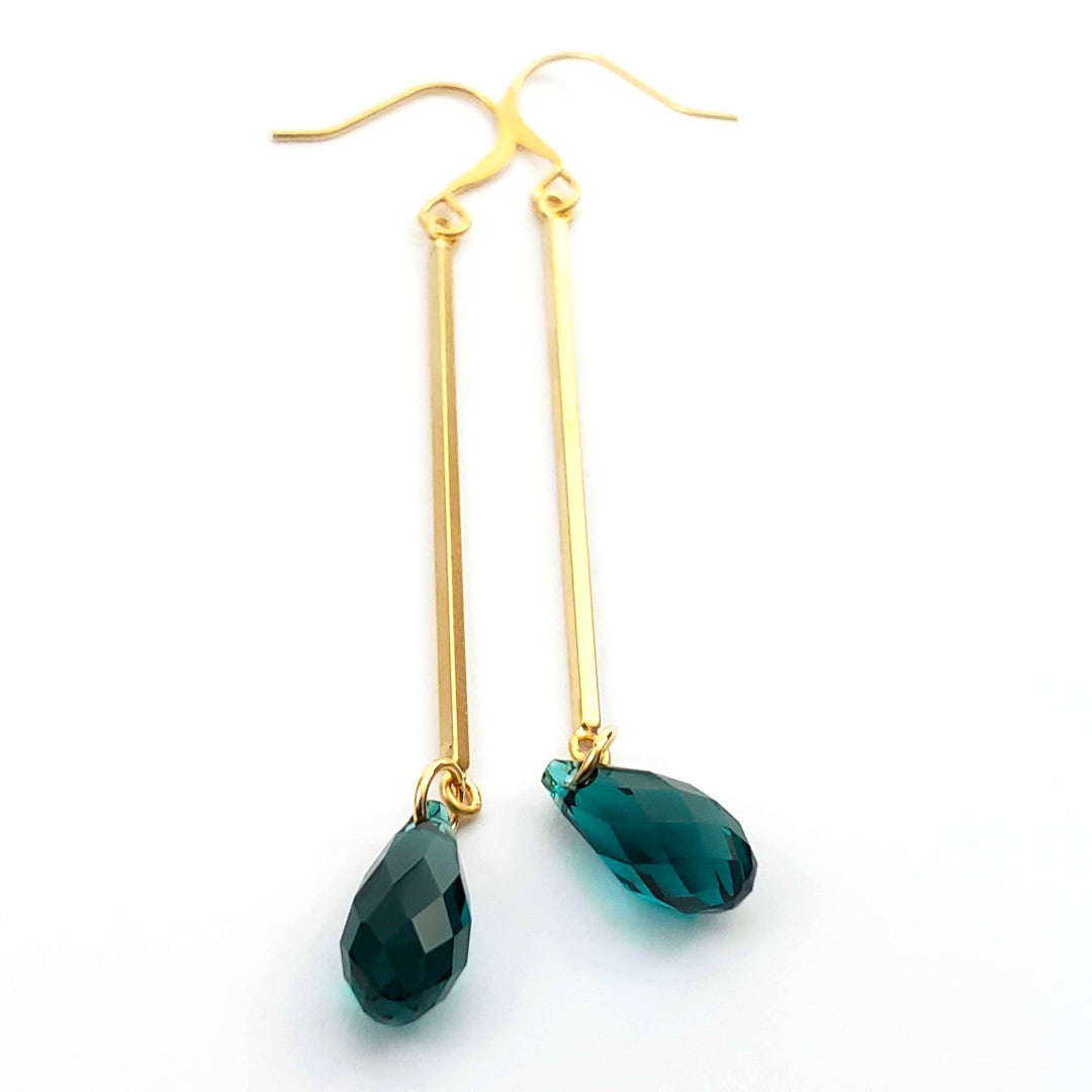 Verdier Swarovski Emerald Crystal Earrings