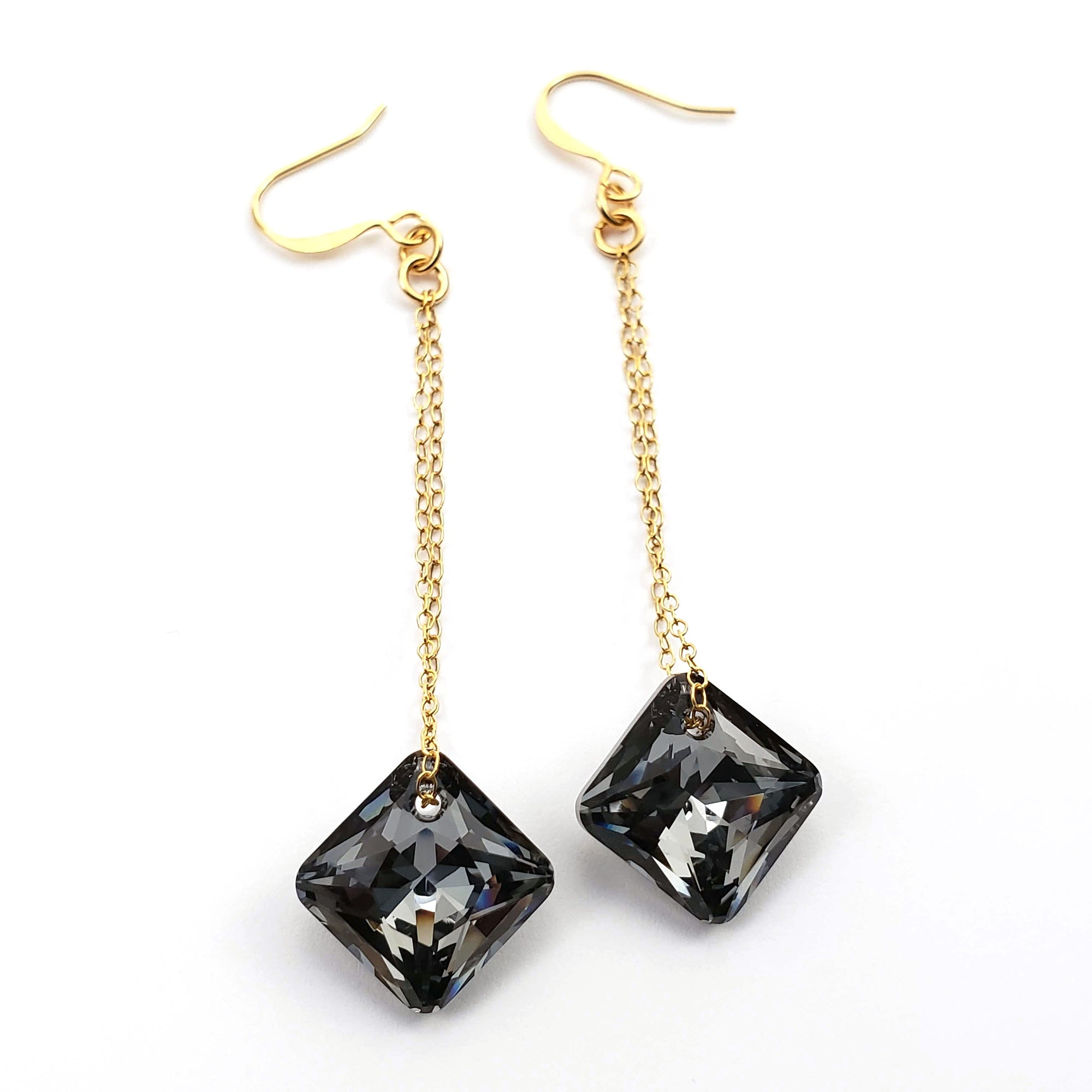 Verdier Silver Night Princess Drop Earrings