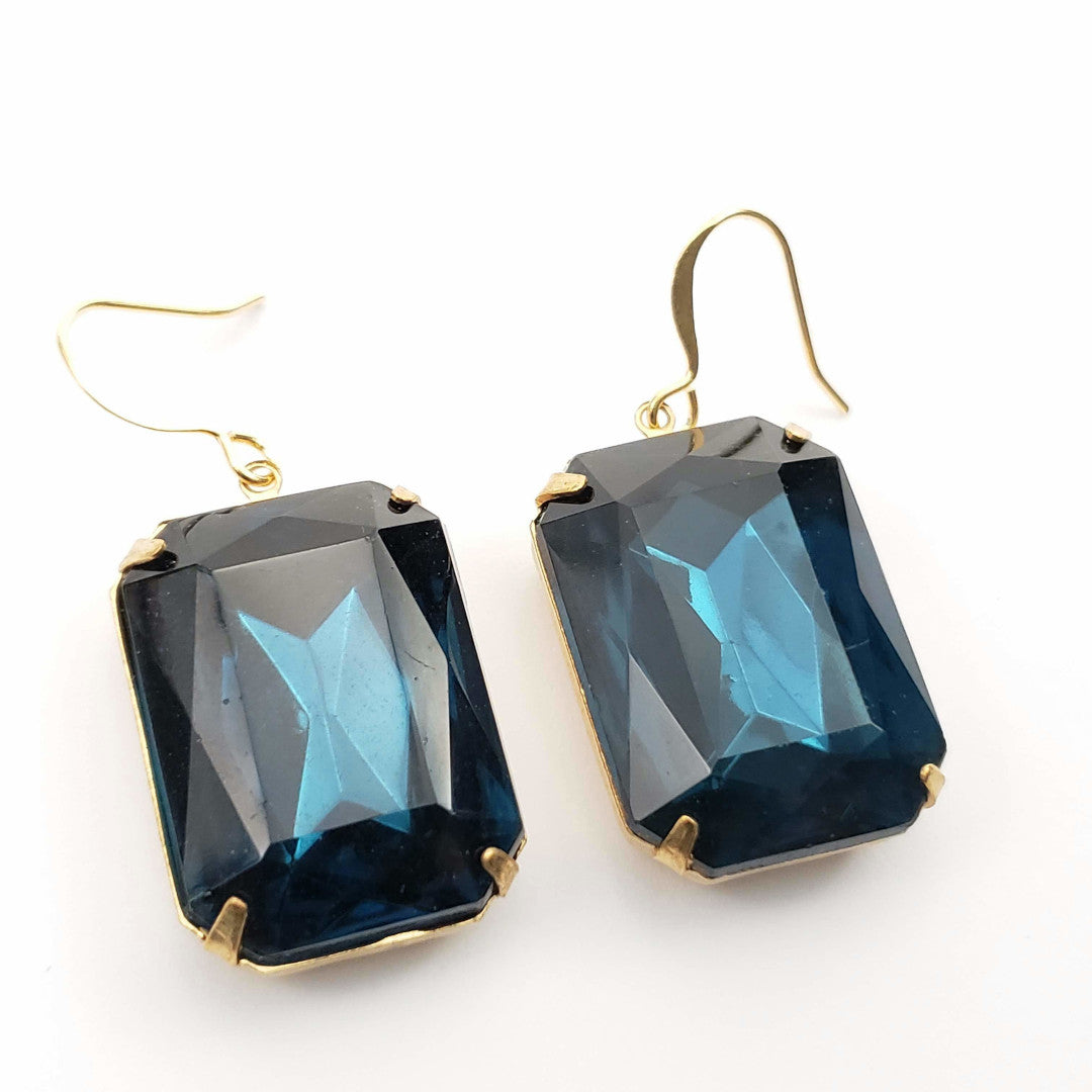 Verdier Mood Indigo Retro Earrings
