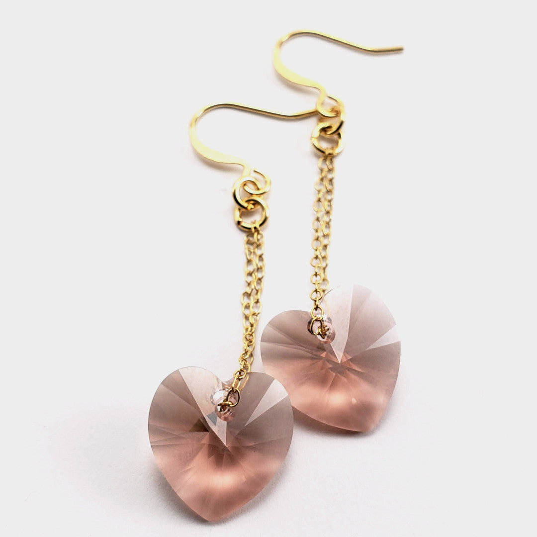 Blush Heart Earrings