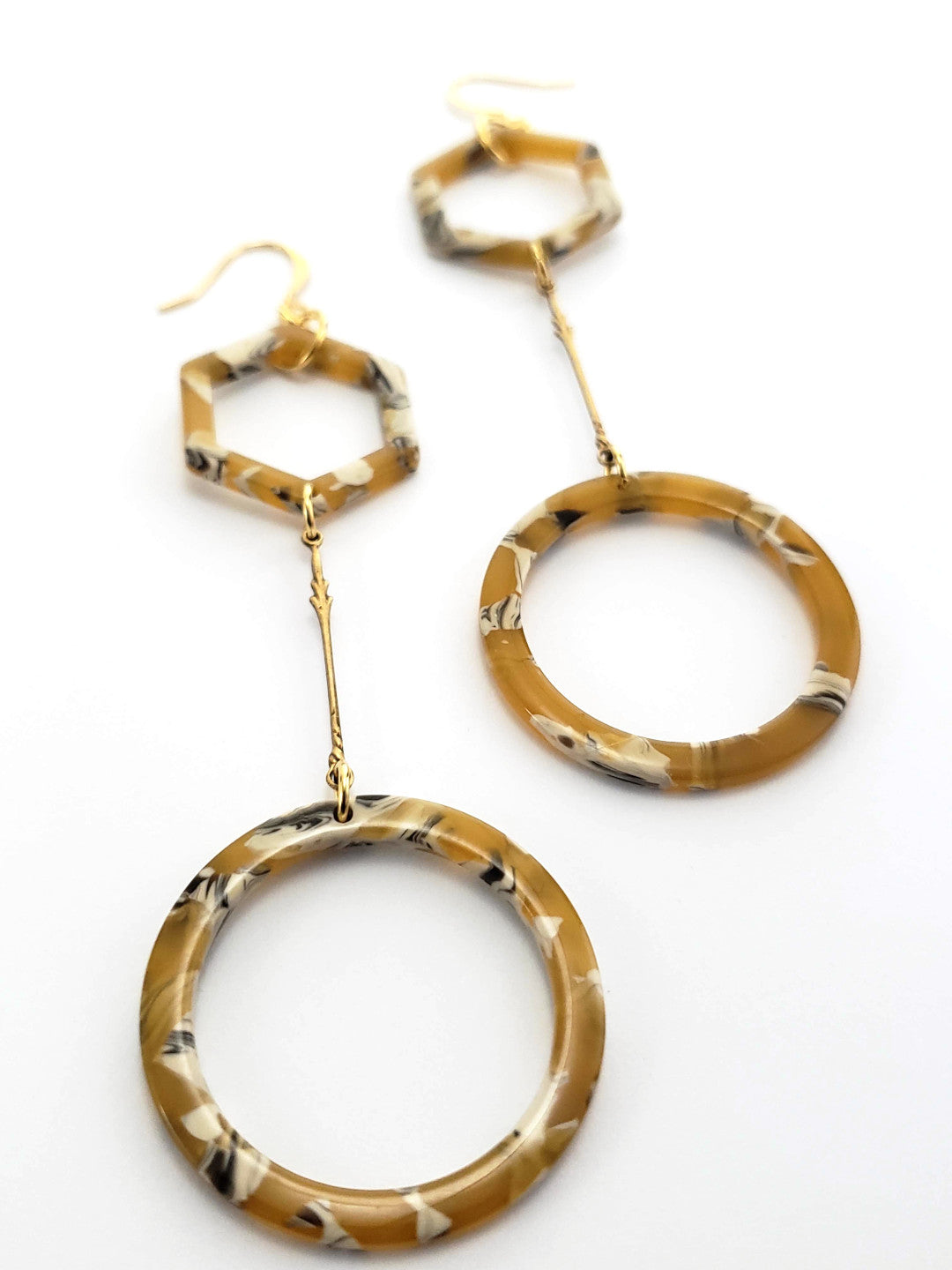 Italian Saffron Resin Hoop Earrings