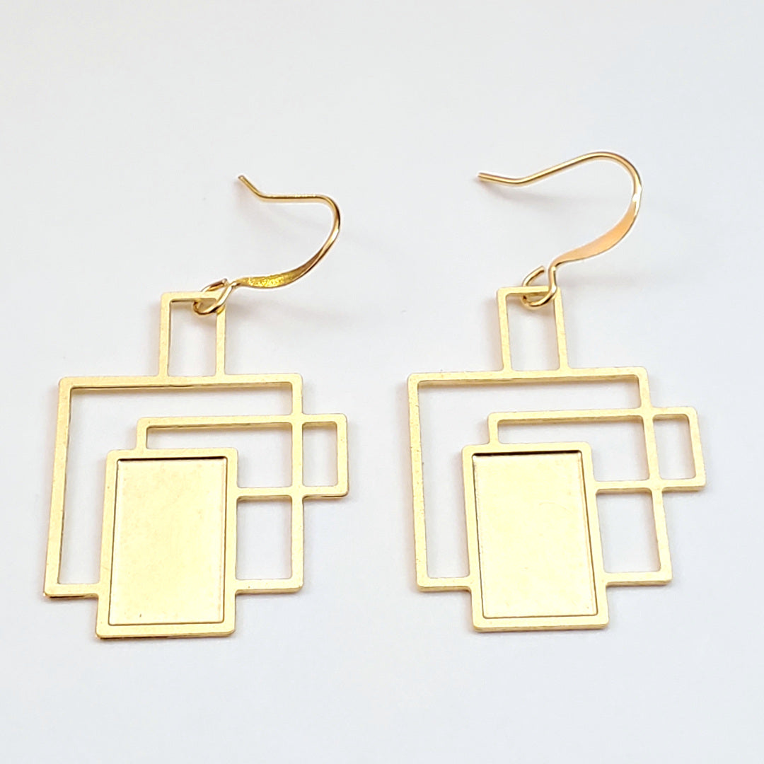 Art Deco Geo Drop Earrings