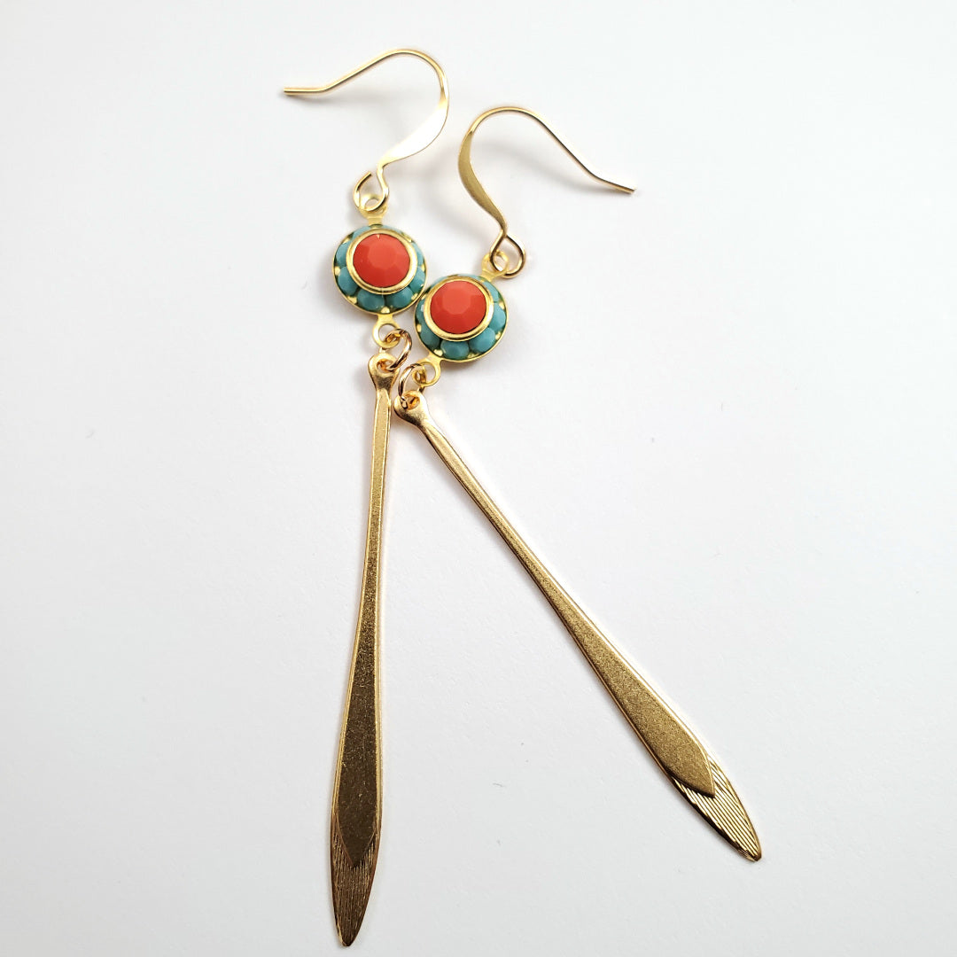 Vintage Swarovski Arrow Drop Earrings