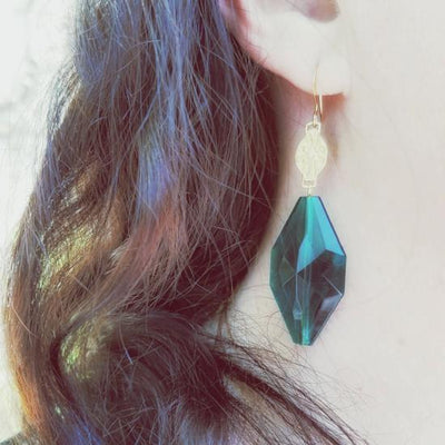 """Green with Envy"" Verdier Vintage Earrings"