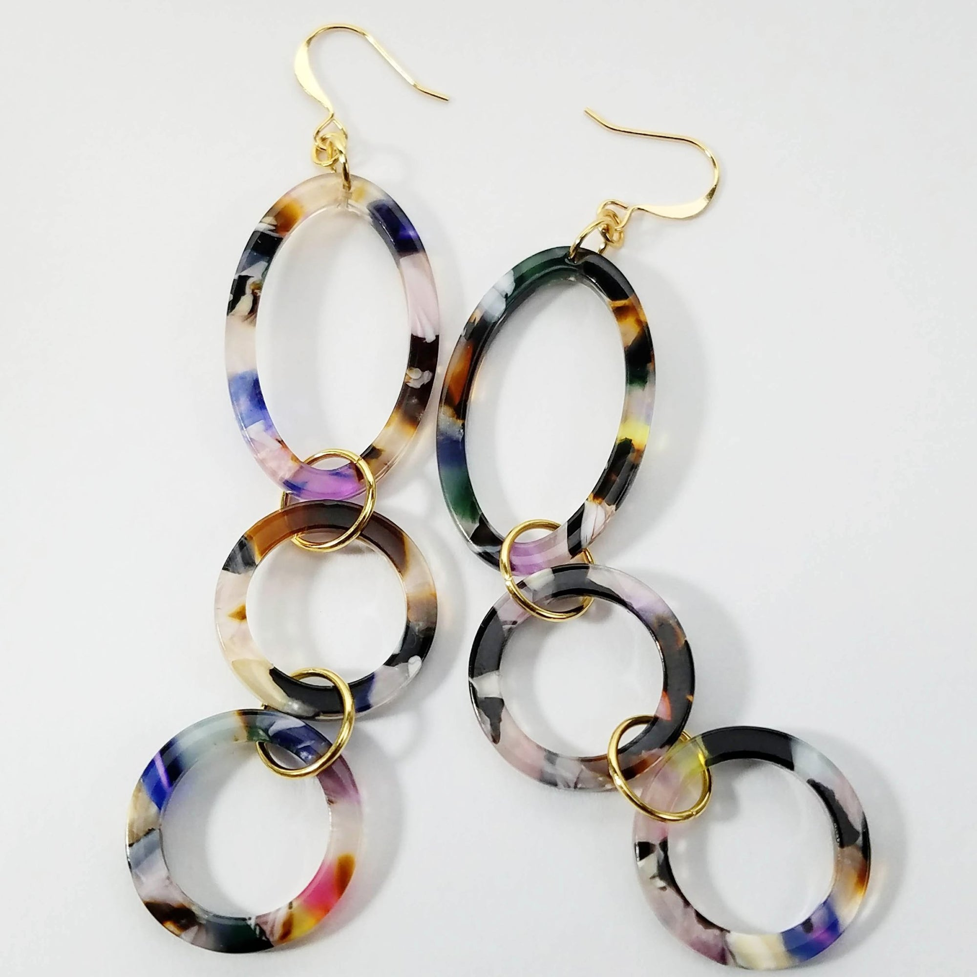 Petite Italian Resin Drop Earrings Verdier Jewelry