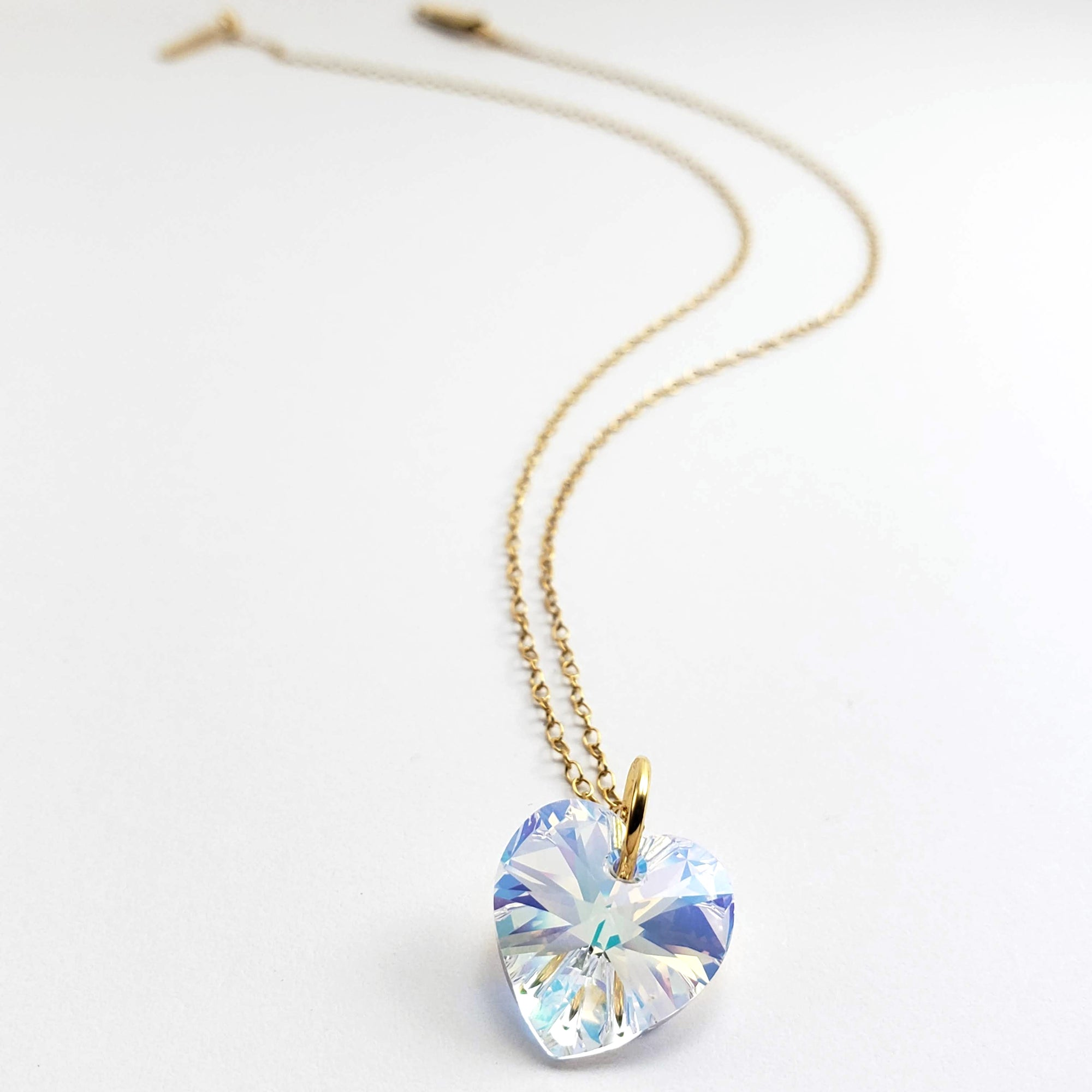 Verdier Love Heart Crystal Necklace