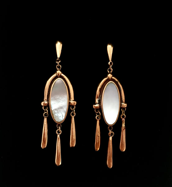 Vintage Bronze Victorian style earrings