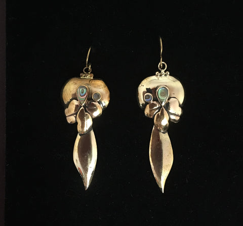 Vintage Bronze Art Nouveau style earrings