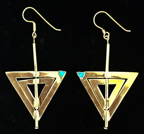 Vintage Bronze 80's earrings