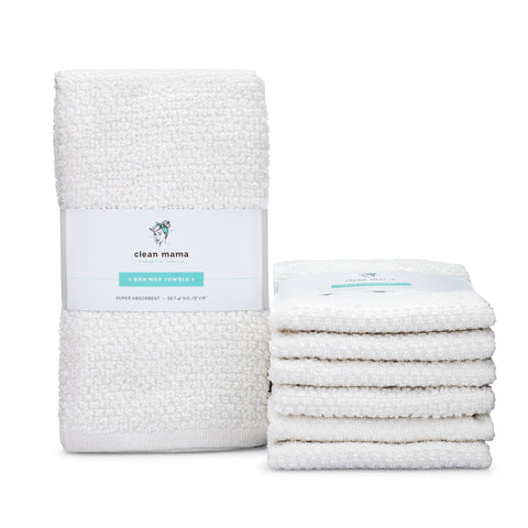 Bar Mop Towels - Set of 6, White