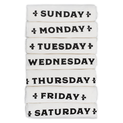 Days of the Week Towels – Set of 7