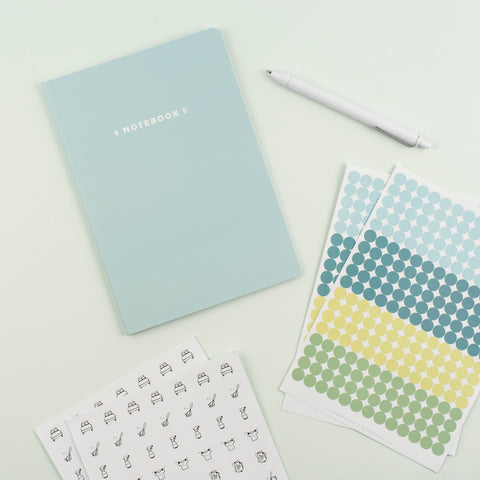 Mini Notebook – Aqua
