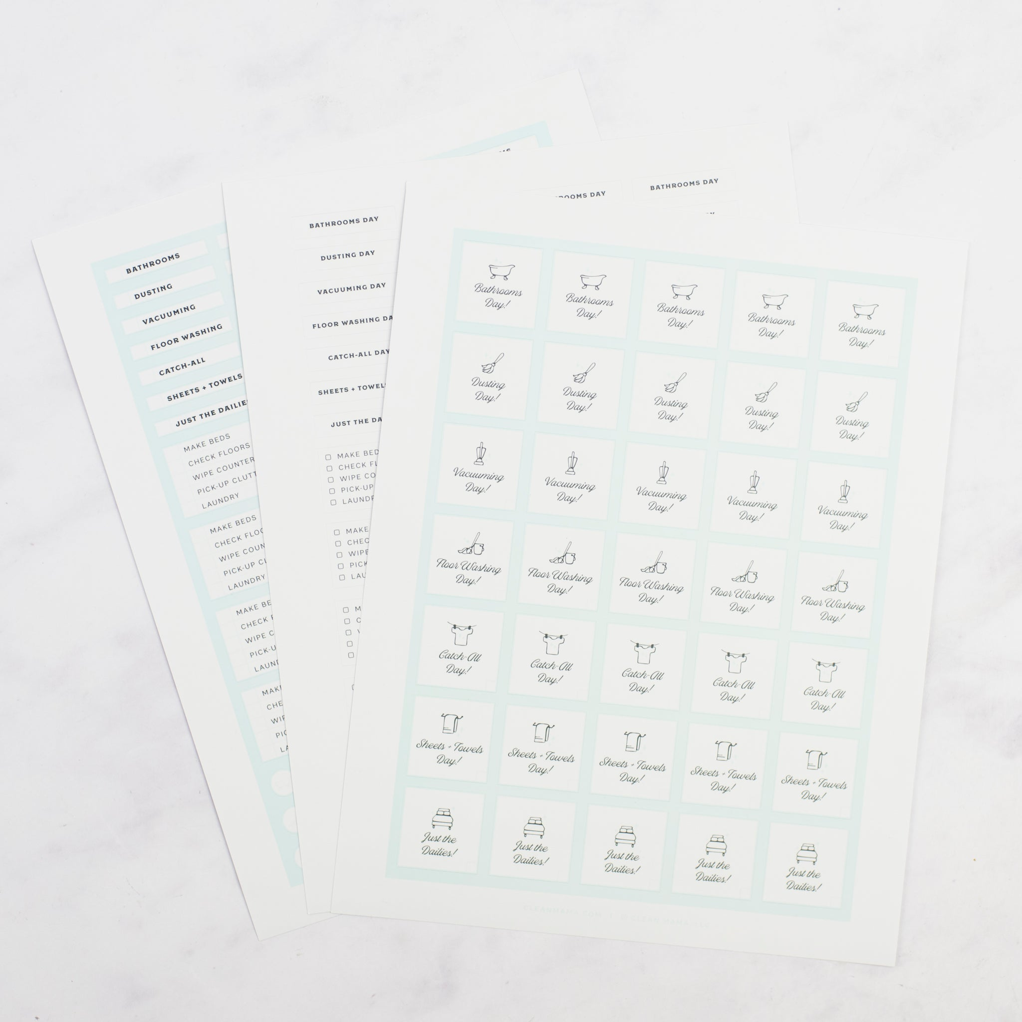 Clean Mama Routine Task Stickers