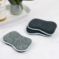 Foaming Scrubbing Sponges - set of 3 - gray