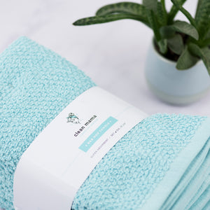 Bar Mop Towels - Set of 6, Aqua