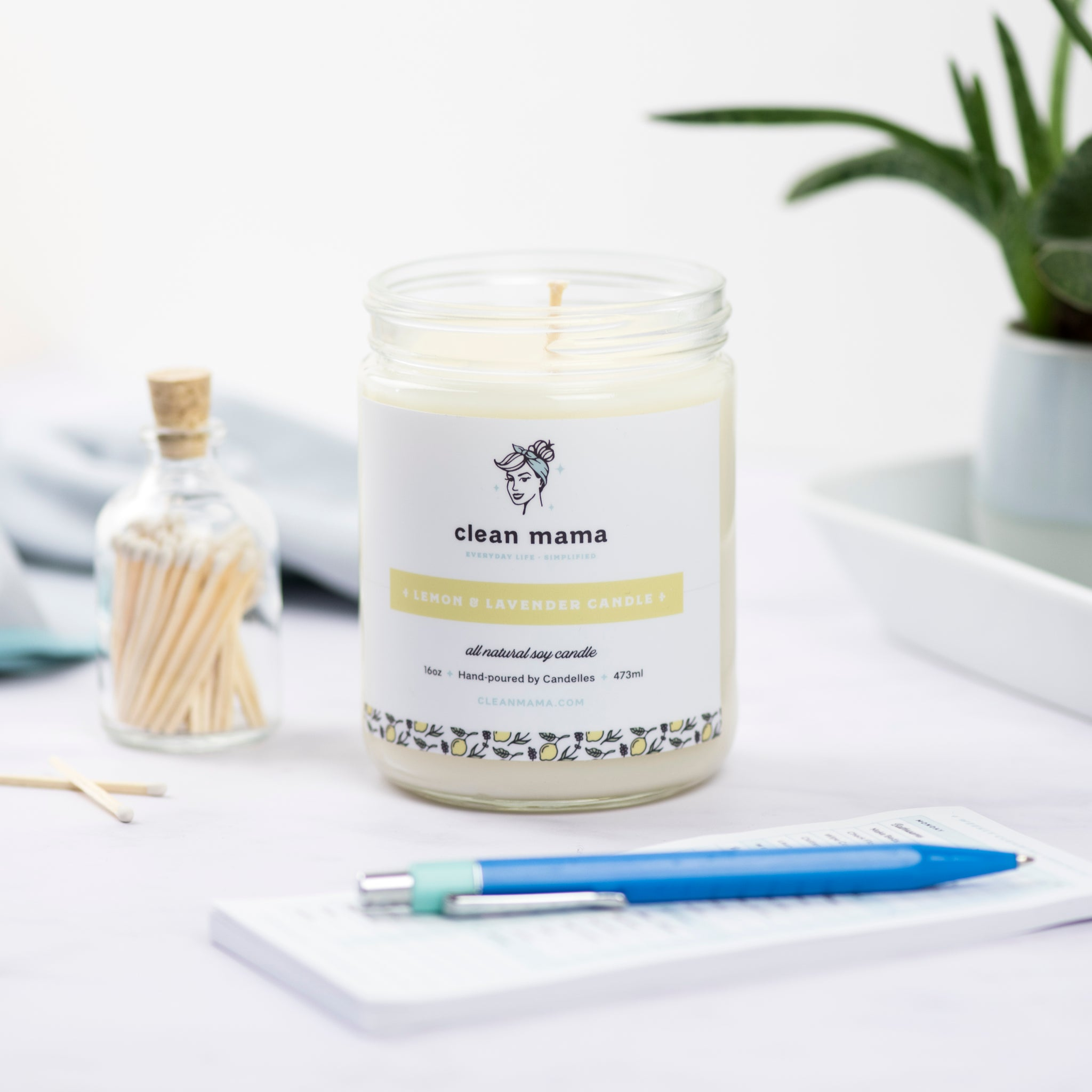 Lemon + Lavender Candle – 16 oz.