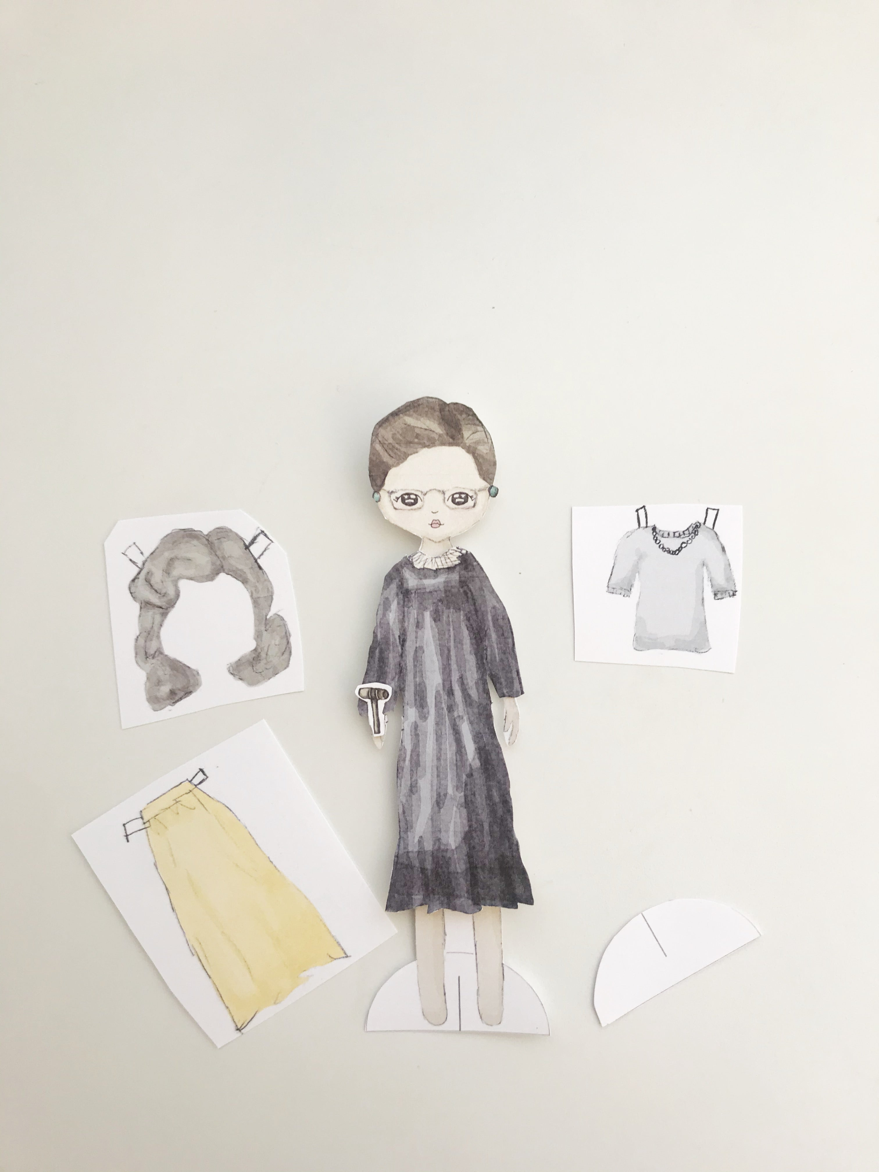 Exclusive paper doll - Ruth Bader Ginsburg