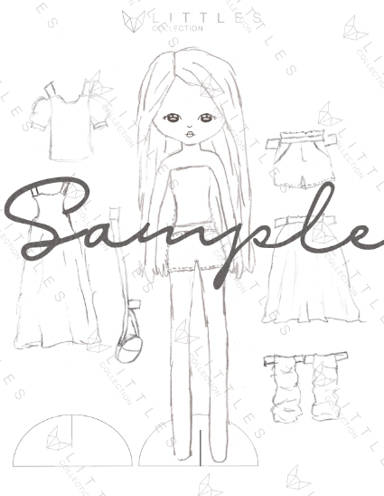 printable paper doll - daisy field