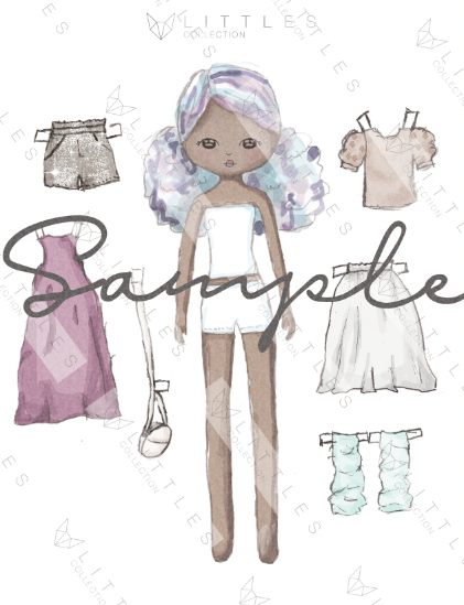 printable paper doll - moon mist