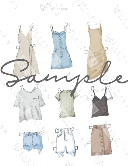 printable paper doll clothing pack