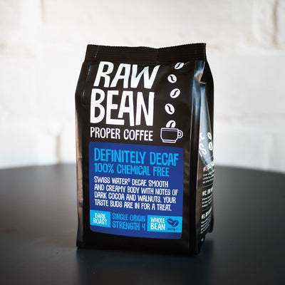 Raw Bean Definitely Decaffeinated 227g Dark Roast Beans