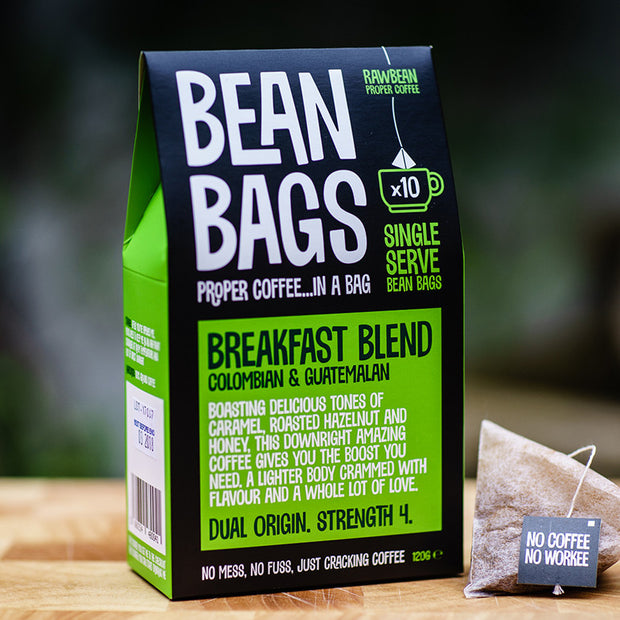 Breakfast Blend Pyramid Coffee Bag Bean Bags retail box