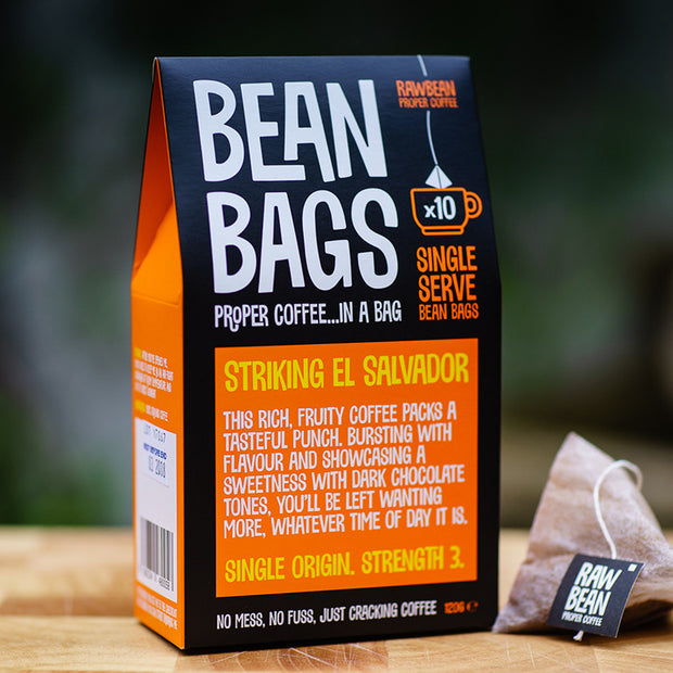 El Salvador Pyramid Coffee Bag Bean Bags retail box