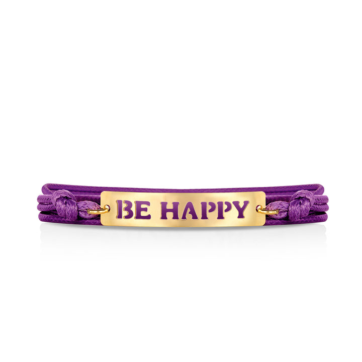 "צמיד שרוך ""Be Happy"""