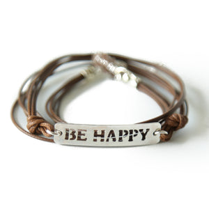 Be Happy צמיד שרוך