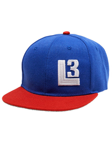 Thuggies L3 Snapback Hat - Blue/Red
