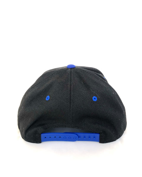 Black & Blue Flat Brim Hat