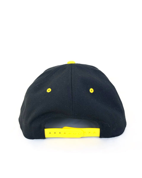 Thuggies Black & Yellow Flat Brim Hat