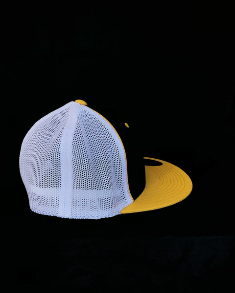 Black & Yellow Flat Brim Trucker Hat