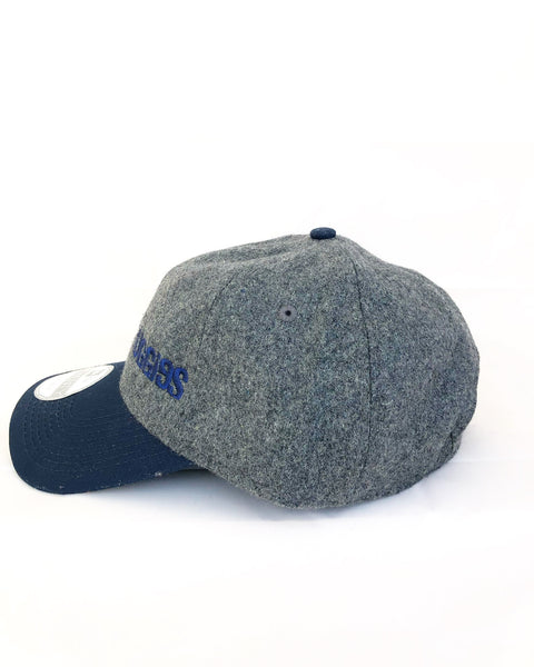 Melton Heather Grey & Navy Cap
