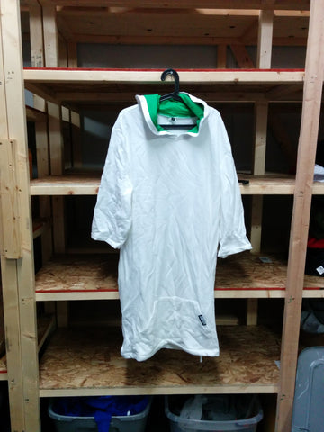 White Green 1 Sided Towel Short Sleeve Thuggie - Full Thug (L)