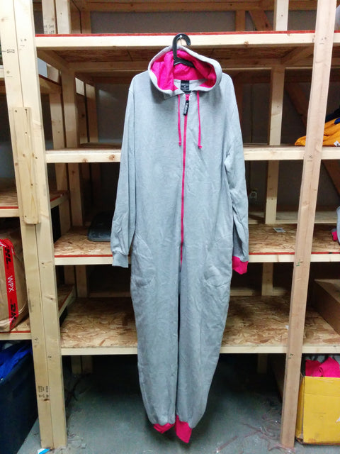 Pink/Grey T-Cozy L-Full Thug Onesie