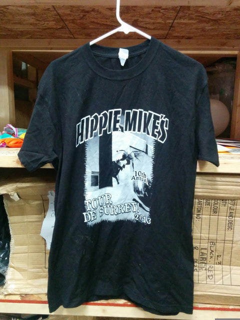 Hippie Mike Skateboards Black T Shirt - Medium