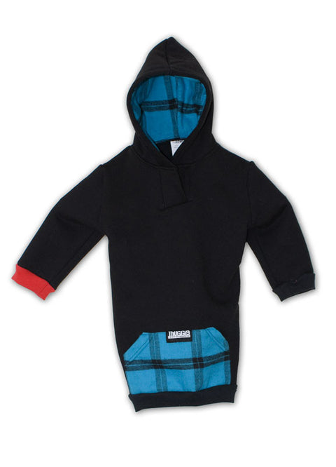 Black & Teal Plaid Thugglet