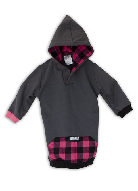 Dark Grey and Pink Plaid Thugglet