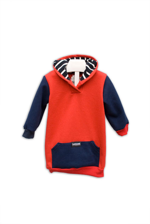 Red and Navy with Stripes Thugglet