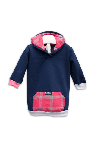 Navy with Pink Plaid Thugglet