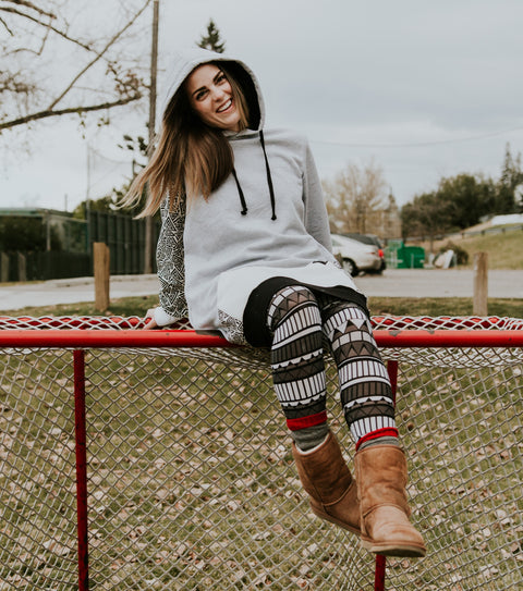 Womens long hoodie perfect with any leggings and patterns