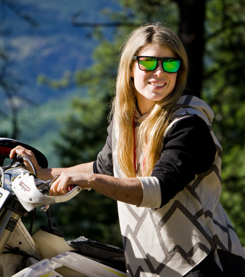 megan griffiths enduro dirt biker youtube rider wearing thuggies on a trip
