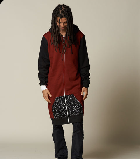 Deep Red Cosmic Zip Thuggie