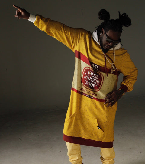 T-Pain's olde english super long hoodie sweatshirt Thuggies
