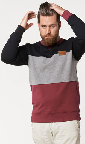 Crimson Trip Sweater
