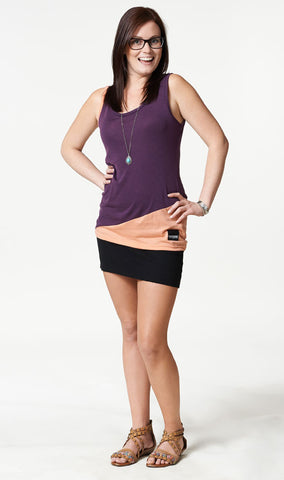 Thuggies Women's Merino Tank Top - Wine/Peach