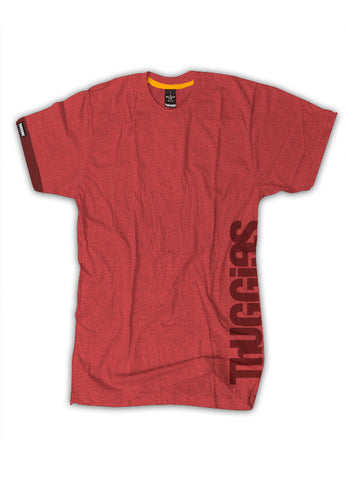 Thuggies Print T-Shirt - Heather Red