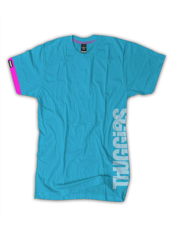 Thuggies Print T-Shirt - Electric Blue