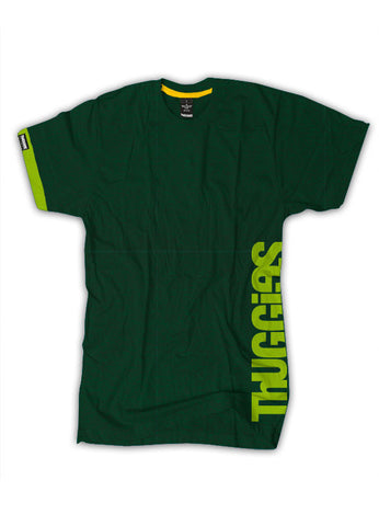 Thuggies Print T-Shirt - Heather Green